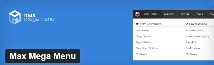 max mega menu for creating mega menu in wordpress