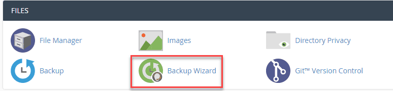 make a backup of your website using cPanel backup wizard