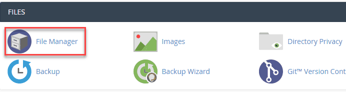 create a backup of your website using file manager