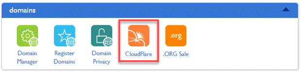bluehost cPanel cloudflare