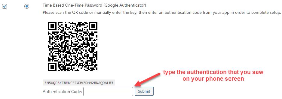 enabling google authenticator