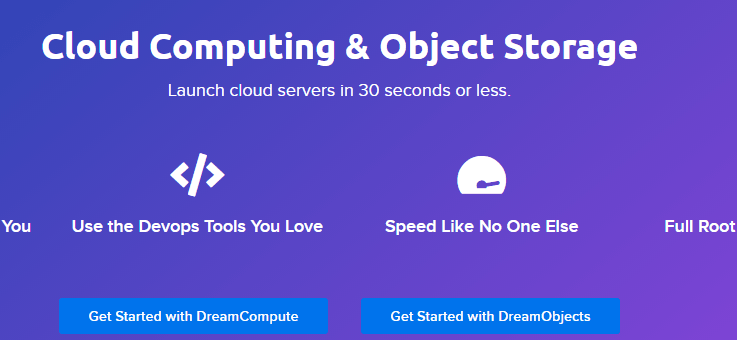 dreamhost - high storage digitalocean alternative