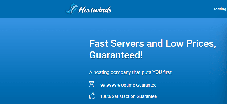 hostwinds affordable cloud provider