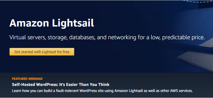 lightsail - high performance cloud infrastructure